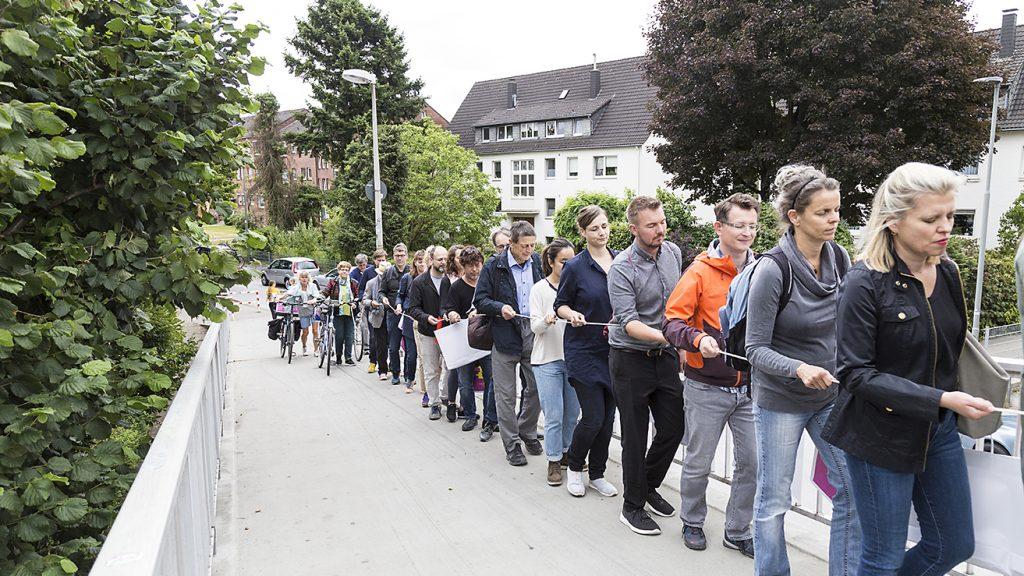 Stadtbesetzung 2019, Ratingen, Durchstreifung Ratingen, Foto Jörn Vanselow
